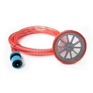 "Sada 2,5m 3/4"" sacích hadíc, plastové sitko a adaptér na rýchle pripojenie - Set of 2,5m 3/4"" suction hose, plastic strainer and quick coupling adapter"